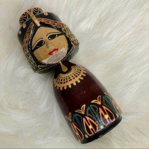 Wooden Egyptian princess FREE w other purchase